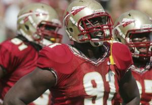 Florida State's Tank Carradine Leads a Parade of Seminoles on the All-ACC Defensive Side