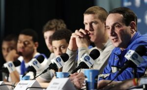 Duke Coach K Blue Devils Final Four Louisville Cardinals Conference Realignment Expansion