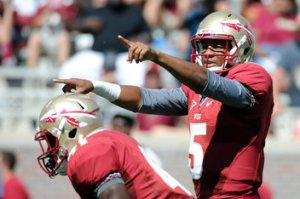 Florida State Seminoles Jameis Winston Starting QB Spring Game Practice Depth Chart