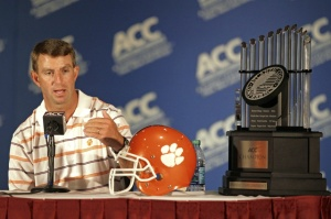 Dabo Swinney ACC FOotball Clemson Tigers Coaches 8-Game Schedule Madison Square Garden Playoff Committee