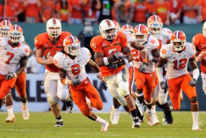 Miami Clemson Tigers Hurricanes ACC Football Favorites 2013 Atlantic Coastal Division Champions
