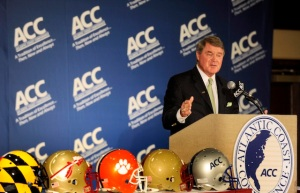 ACC Football Meetings Grant of Rights Media John Swofford Syracuse Pitt Notre Dame