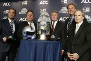 John Swofford ACC Pinstripe Bowl New York City Syracuse Press Conference
