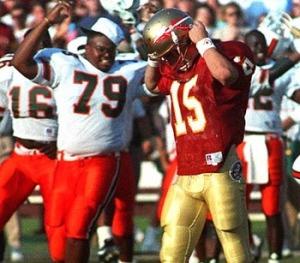 Miami Florida State Hurricanes Seminoles Wide Right 1991 ACC Football