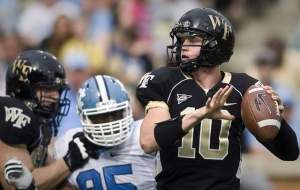 Tanner Price and the Wake Forest Offense Must Get Back on Track This Year to Get Back to a Bowl