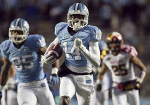 North Carolina's Quinshad Davis is #32 on Our Countdown of the ACC's Top 50 Players for 2013