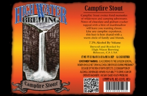 This Week's Game Day Beer of the Week: HIgh Water Brewing Campfire Stout