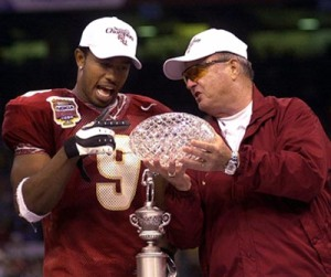 Peter Warrick Bobby Bowden Florida State Seminoles FSU 1990s Championshp BCS Titles ACC Football